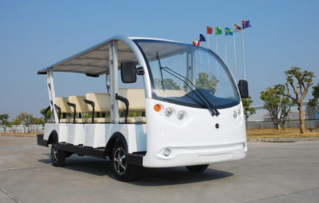 ECARMAS electric 14 seats city tourist car for sale in China, sightseeing car to purchase