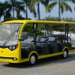 Electric vehicles, resort car, sightseeing car, shuttle cart, cart manufacturer, yellow color resort car, electric cart
