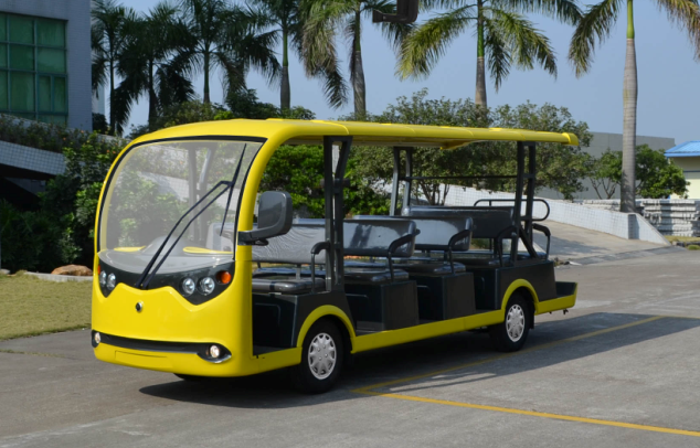 New coming yellow color 11 seats electric city tourist car