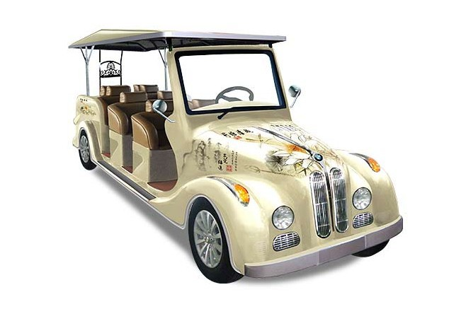 Electric 8 seats classic car from China