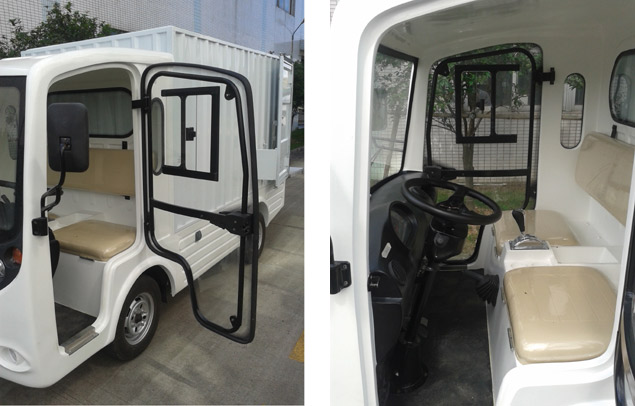 EcarMAS electric utility cargo truck door detail
