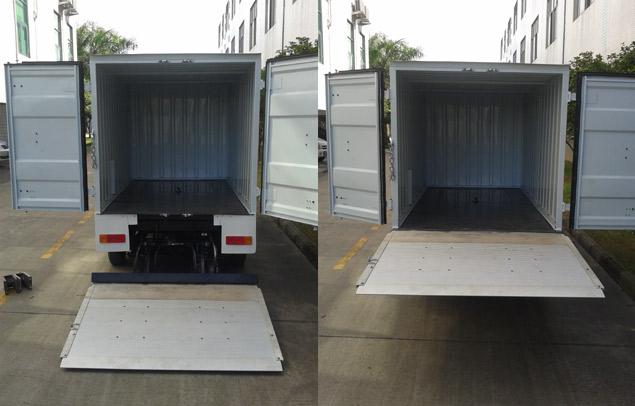EcarMAS electric utility cargo truck rear detail