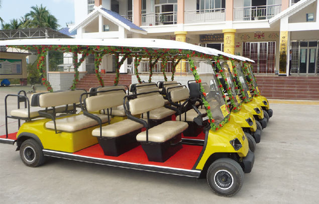 ECARMAS 11 seats resort car, sightseeing car, car for villa, car for real estate, hotel car, patrol car, electric vehicle supplier