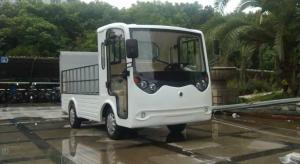 ECARMAS electric heavy duty car, electric cargo vehicle, electric cargo truck, electric truck with hydraulic plate