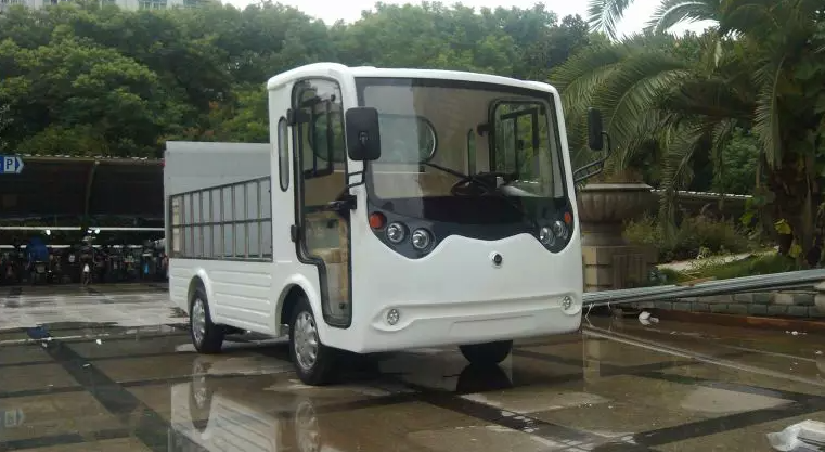 ECARMAS electric heavy duty car, electric cargo vehicle, electric cargo truck, electric truck with hydraulic plate