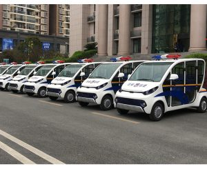 ECARMAS patrol car, electric polic car with doors, electric police vehicle