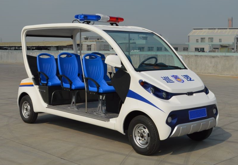 mini ECARMAS electric police patrol car, electric police car, mini electric police vehicle, electric police patrol car, small electric police car