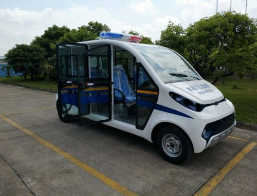 Electric police buggies keep the locals safe, as well as the environment