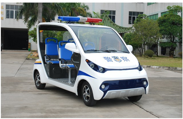 Electric Mini Police Car, Electric 4 seats police patrol wagon, small electic police car, electric police vehicle