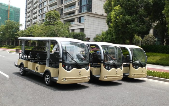 electric shuttle vehicles, ECARMAS 14 seater electric shuttle vehicle